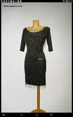 Love the beading/fringing on it Latin Ballroom Dresses, Latin Dresses, Ballroom Dancing, Dance Dresses, Tango, Baile Latino, Latin Dance, Dance Costumes, Dream Dress