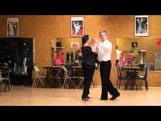 Rumba social latin dance, Forward to Back spot Turn pattern.