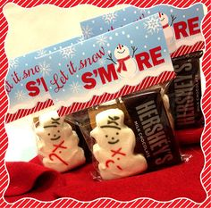 Snowman S'mores Bag Topper PRINTABLE 2 Sizes by LisaMariesaDesign, $5.00