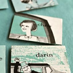 Learn how to make these vintage name card magnets for your next party - or wedding!