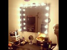 DIY : Vanity Girl Inspired Hollywood Mirror