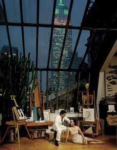 Ruben and Isabel Toledo in their 11th floor Manhattan studio, by Jason Schmidt (for Bazaar), 2007