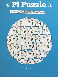 Printable Pi Puzzle for Pi Day via @karyntripp