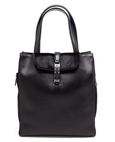 BARABOUX | Anna Leather and Ponyskin Tote Bag | Browns fashion & designer clothes & clothing