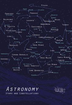 Astronomy Stars and Constellations... one day I want to stargaze and actually know all of their names :)