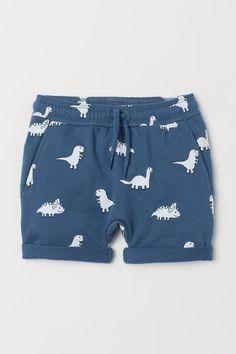 93f50977d Pantalón corto en sudadera - Paloma azul Dinosaurios - NIÑOS