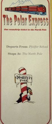 """Polar Express"" train ticket to print out. // It would be awesome to take the students on a ""train ride"" to the North Pole on the last day of school before Christmas break. :)"