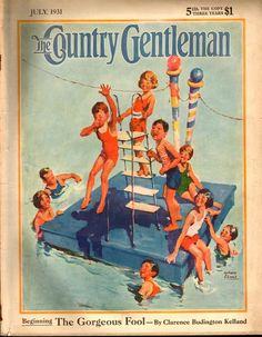 Swimming! - Country Gentleman 1931