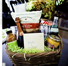 Need to remember this when I\'m a bridesmaid... Honeymoon basket ...