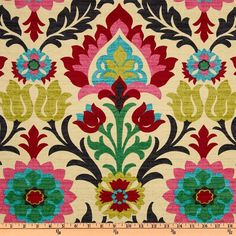 Modern Ikat Fabric - Upholstery Fabric by the Yard - Red Pink Ikat Fabric - Ikat Drapery Fabric by the Yard