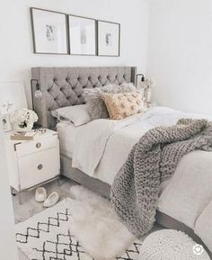 40 Chic Bedroom Decorating Ideas for Teen Girls Teen Room Decor Ideas Bedroom Ch. - 40 Chic Bedroom Decorating Ideas for Teen Girls Teen Room Decor Ideas Bedroom Chic decorating Girls - Farmhouse Bedroom Decor, Home Decor Bedroom, Farmhouse Design, Rustic Farmhouse, Bedroom Ideas Grey, Trendy Bedroom, White Bedroom Furniture, Farmhouse Style, Design Bedroom