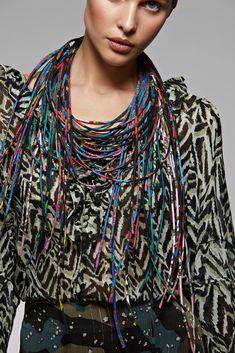Silk necklace Шелковые колье Silk Scarves, Russia