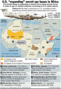 """""""The new scramble for Africa """" Private Plane, Oppression, Infographic, Africa, United States, Military, Maps, Private Jet, Infographics"""