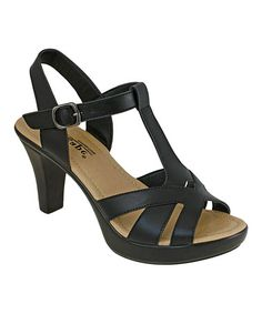 Another great find on #zulily! Black Strappy Polina Sandal #zulilyfinds