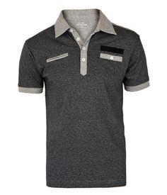 Camiseta|Polo|Cinza escuro                                                                                                                                                      Mais