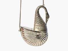 Vintage Silver Swan Minaudiere Purse by maevenvintage on Etsy, $278.00
