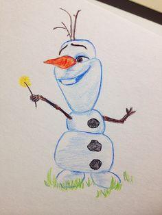 Olaf Frozen Cute Disney Sketch Drawing