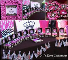 getting ideas for my nieces sweet 16 party!!!!  Pink and Leopard Royal Princess Birthday Party