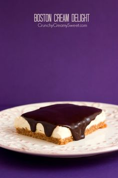 Boston Cream Delight - a combination inspired by my Hubby's two favorite desserts! You will love it as much as we do!
