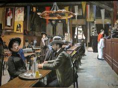 Santiago Rusiñol - The Cafe Montmartre (Museu de Montserrat) // Santiago Rusiñol i Prats was a Catalan post-impressionist/symbolist painter, poet, and playwright. He influenced Pablo Picasso deeply. Spanish Painters, Spanish Art, Spanish Artists, Painter, Western Art, Painting, Art, Post Impressionists, Art History