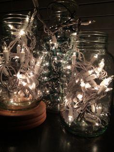 Lights inside jars... Nice glow