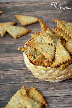 Elf w kuchni !: Pełnoziarniste krakersy z makiem i sezamem