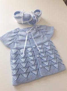 Knitting For Kids Baby Knitting Patterns Baby Patterns Stitch Patterns Layette Baby Items Crochet Baby Baby Booties Baby Sweaters Crochet Baby Jacket, Crochet Baby Sweaters, Knit Baby Dress, Knitted Baby Clothes, Baby Knitting, Knit Jacket, Baby Cardigan, Cardigan Bebe, Baby Sweater Patterns