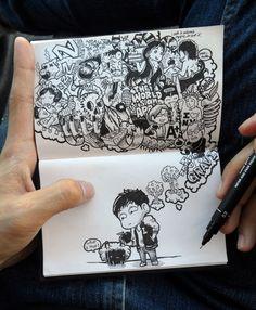 Moleskin Drawings by Lei Melendres