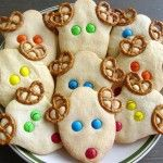 reindeer cookies - but with chocolate cookie dough for the head and chocolate chips for the eyes and red hots for the nose.