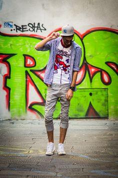 Graffiti and snapback. Hip Hop style.