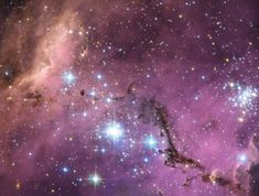 The image shows the Large Magellanic Cloud (LMC) is ablaze with star-forming regions.     'The LMC is in an ideal position for astronomers to study the phenomena surrounding star formation,' the European Space Observatory said.    'It lies in a fortuitous location in the sky, far enough from the plane of the Milky Way that it is neither outshone by too many nearby stars, nor obscured by the dust in the Milky Way's centre.