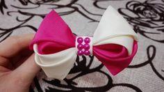 двухцветный бант,DIY\ Laço De Fita Cetim\the ribbon bows
