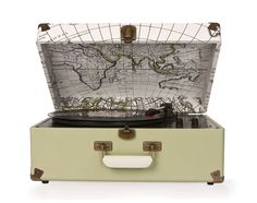 Crosley | Keepsake - Map Pattern #crosley #turntable #keepsake #urbanoutfitters