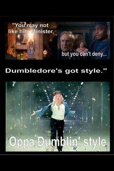 Oppa Dumblin' Style! love harry potter:)
