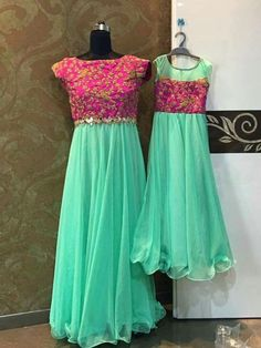 mom n baby duo contact : 9966535354 Mom Daughter Matching Dresses, Mom And Baby Dresses, Girls Dresses, Baby Outfits, Matching Outfits, Long Dresses, Prom Dresses, Anarkali Dress, Lehenga