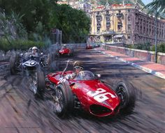 Monaco Grand Prix 1961 Ritchie Ginther in the Ferrari Tipo 156
