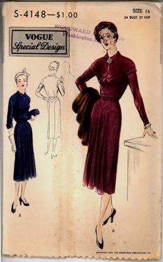 1950s Label Paneled Skirt Dress Vogue Special Design S 4148 Size 16 Bust 34 Vintage Sewing Pattern di VintagePatternsCo1 su Etsy https://www.etsy.com/it/listing/217697255/1950s-label-paneled-skirt-dress-vogue