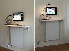 #invisible-#desk-#storage1 // So werden aus #Ikea #Möbel Komponenten ein Stehpult mit verdeckter Energiezuführung - Ein klasse #Hack!