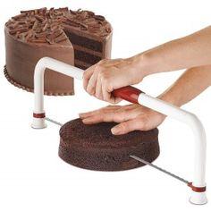 """Wilton Ultimate Cake Leveler - Large - Folding by Wilton at BakeDeco. Shop for Wilton Ultimate Cake Leveler - Large - Folding from Pastry / Cake Dividers / Markers at affordable prices. Wilton Cakes, Baking Gadgets, Baking Tools, Cake Leveler, Cookie Decorating Supplies, Baking Utensils, Rolling Fondant, Cake Decorating Tips, Cupcake Cakes"