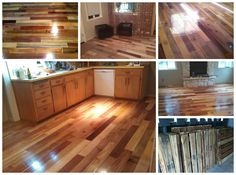 """Surfing on Imgur, we found this incredible floor made from recycled pallet wood by """"pretendadult"""" and we must say that the result is simply incredible. The wood is coming from old pallets that had been used for transporting coconut oil. A semi-gloss finish was applied on the floor that beautify... #PalletFlooring, #RepurposedPallet"""