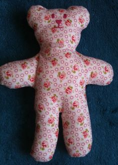 Threadbear Therapy Pink Floral Aromatherapy Teddy bear infused with Rose oil £7.50