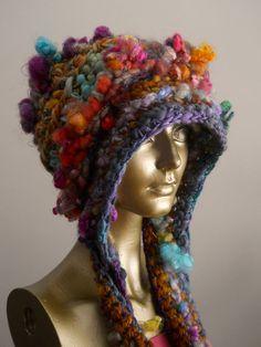 Fluff Muffin Art Yarn Hat by designsbyamber on Etsy