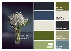 Paint colors from Chip It! by Sherwin-Williams (original image via http://design-seeds.com/index.php/home/entry/tones-of-spring)