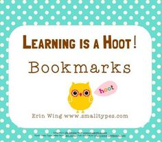 Celebrate learning with owl-themed bookmarks! Free!
