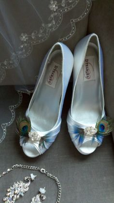 Peacock Wedding Shoes. So easy to wear your something blue like this