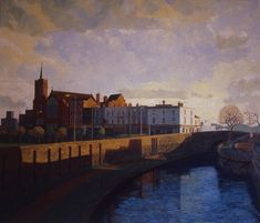 Mile End Park with Canal, 1987 by Doreen Fletcher