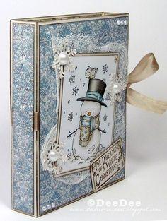♥ Hanna and Friends DT - Teelichtkarte / Tealight card Scrapbook Albums, Scrapbooking, 3d Paper Crafts, Card Tutorials, Blue Christmas, Altered Books, Folded Cards, Greeting Cards Handmade, Christmas Cards