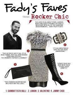 Fady's Faves: Rocker Chic...Don't play it safe! ‪#‎Tootsies‬ ‪#‎Houston‬ #GiambattistaValli, #Valentino, #JimmyChoo, & #Lanvin