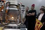 Flama del Canigó que encent les fogueres de Sant Joan als països catalans
