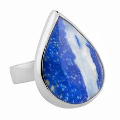 Lapis Lazuli, Best Christmas Gifts, Sunglasses Accessories, Sterling Silver Rings, How To Memorize Things, Gemstone Rings, Gemstones, Blue, Jewelry